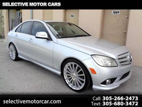 2009 Mercedes-Benz C-Class for sale at Selective Motor Cars in Miami FL