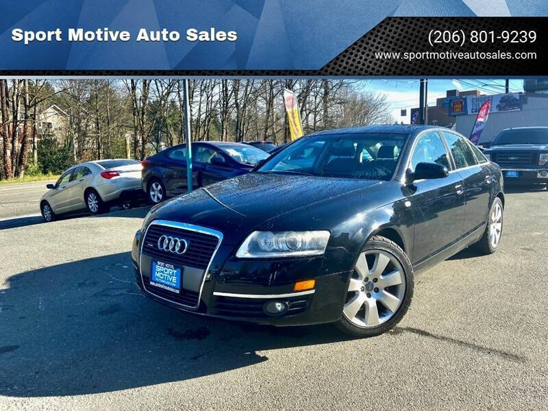 2006 Audi A6 for sale at Sport Motive Auto Sales in Seattle WA