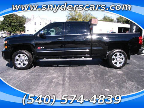 2018 Chevrolet Silverado 2500HD for sale at Snyders Auto Sales in Harrisonburg VA
