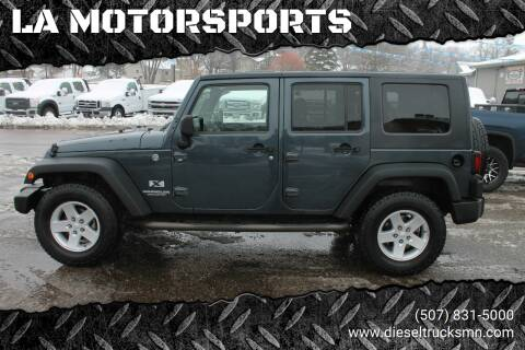 2008 Jeep Wrangler Unlimited for sale at LA MOTORSPORTS in Windom MN