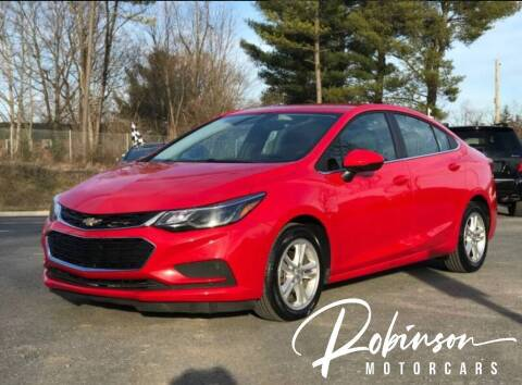 2018 Chevrolet Cruze for sale at Robinson Motorcars in Hedgesville WV