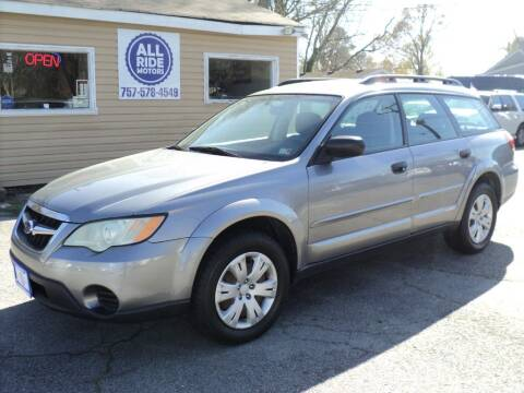 2009 Subaru Outback for sale at All Ride Motors in Chesapeake VA