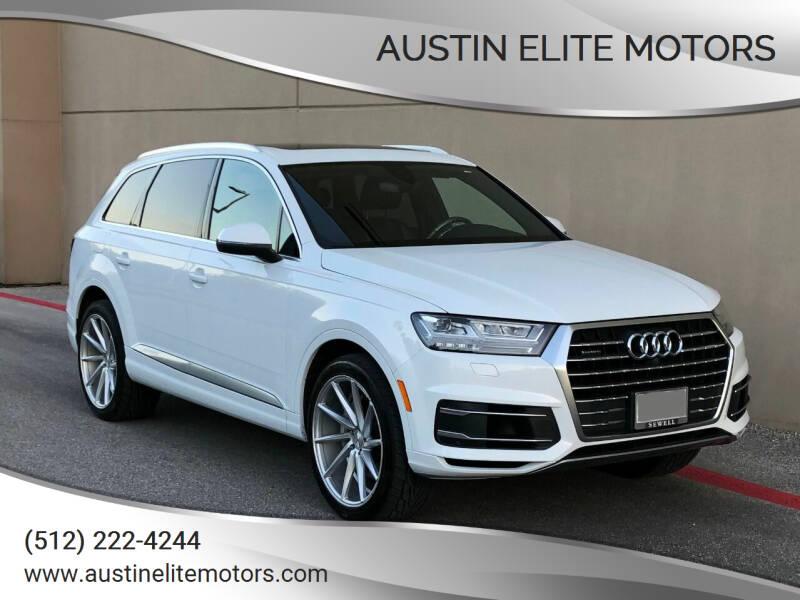 2017 Audi Q7 for sale at Austin Elite Motors in Austin TX