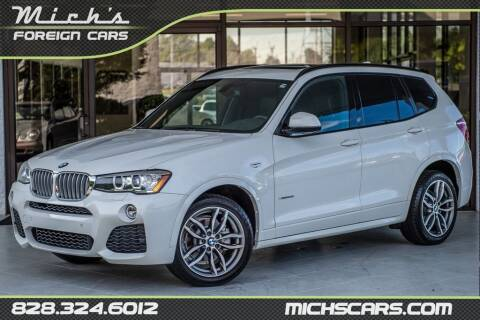 2017 BMW X3 for sale at Mich's Foreign Cars in Hickory NC