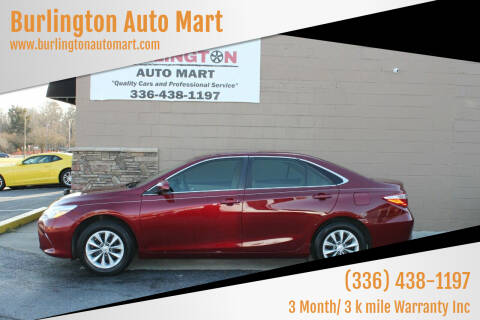 2017 Toyota Camry for sale at Burlington Auto Mart in Burlington NC