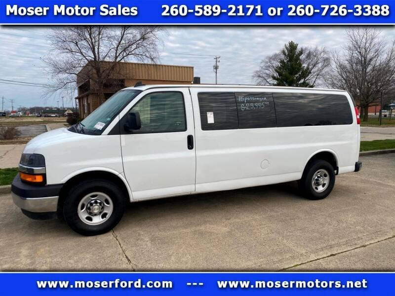 2019 Chevrolet Express Passenger for sale at Moser Motors Of Portland in Portland IN