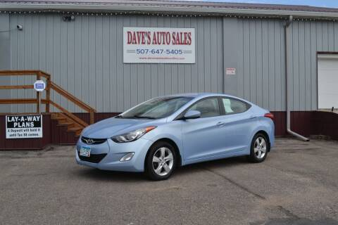 2013 Hyundai Elantra for sale at Dave's Auto Sales in Winthrop MN