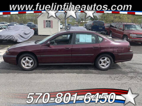 2004 Chevrolet Impala for sale at FUELIN FINE AUTO SALES INC in Saylorsburg PA