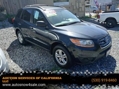 2011 Hyundai Santa Fe for sale at AUCTION SERVICES OF CALIFORNIA in El Dorado CA