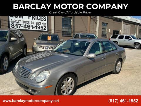 2006 Mercedes-Benz E-Class for sale at BARCLAY MOTOR COMPANY in Arlington TX