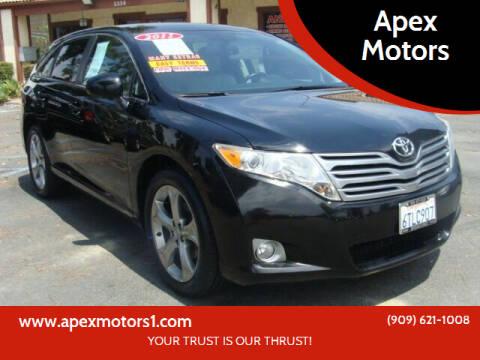 2011 Toyota Venza for sale at Apex Motors in Montclair CA