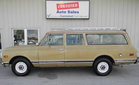 1970 Chevrolet Suburban C20 for sale at Certified Auto Sales in Des Moines IA