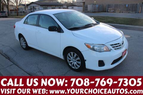 2013 Toyota Corolla for sale at Your Choice Autos in Posen IL