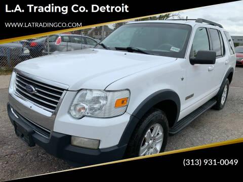 2007 Ford Explorer for sale at L.A. Trading Co. Detroit in Detroit MI