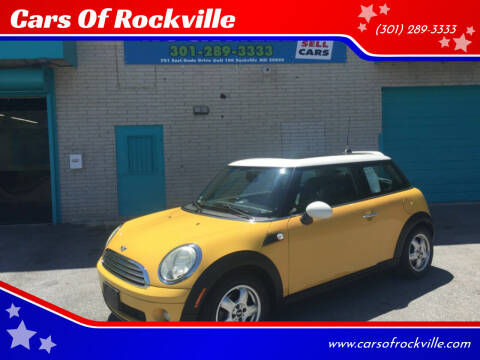 2008 MINI Cooper for sale at Cars Of Rockville in Rockville MD