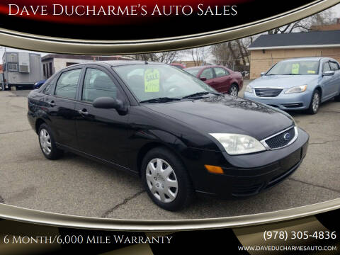 2007 Ford Focus for sale at Dave Ducharme's Auto Sales in Lowell MA