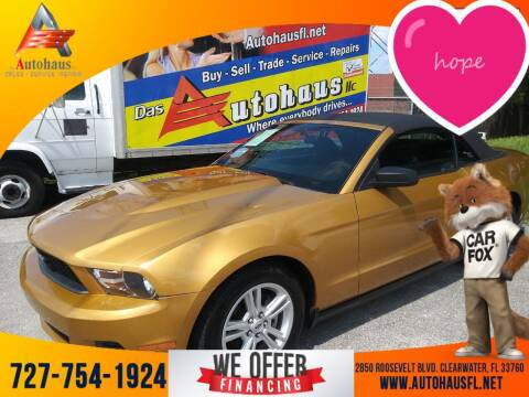 2010 Ford Mustang for sale at Das Autohaus Quality Used Cars in Clearwater FL