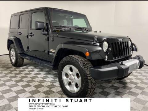 2014 Jeep Wrangler Unlimited for sale at Infiniti Stuart in Stuart FL