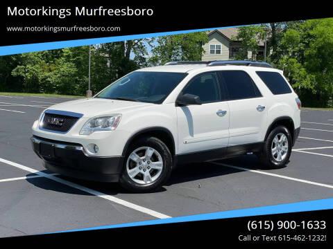 2009 GMC Acadia for sale at Motorkings Murfreesboro in Murfreesboro TN
