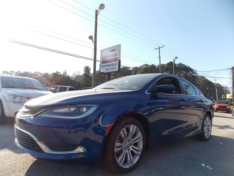 2015 Chrysler 200 for sale at Deer Park Auto Sales Corp in Newport News VA