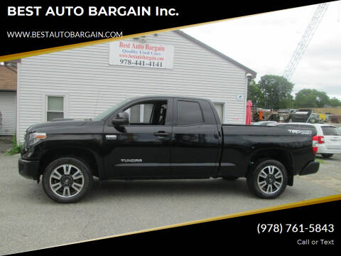 2018 Toyota Tundra for sale at BEST AUTO BARGAIN inc. in Lowell MA