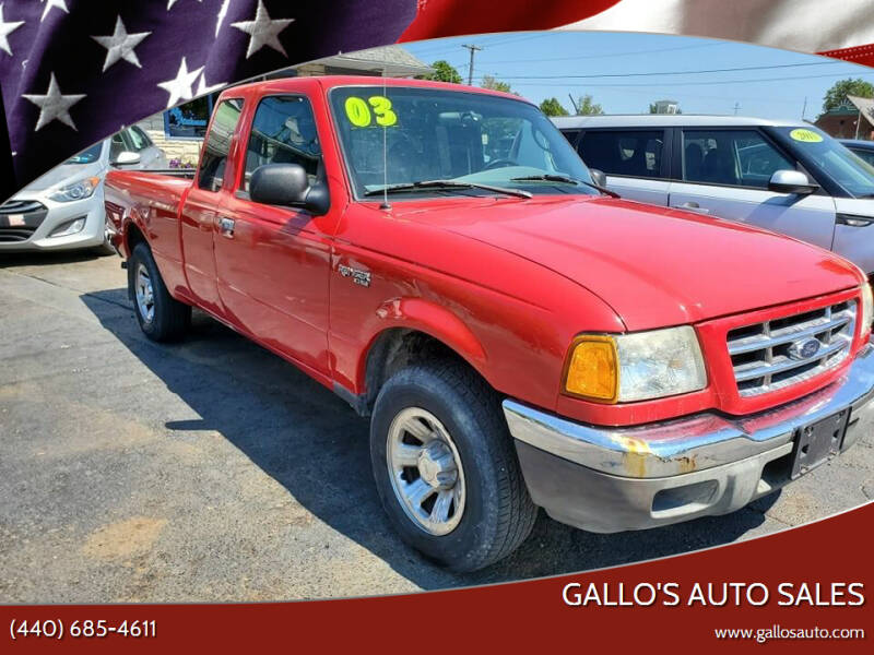 2003 Ford Ranger for sale at Gallo's Auto Sales in North Bloomfield OH