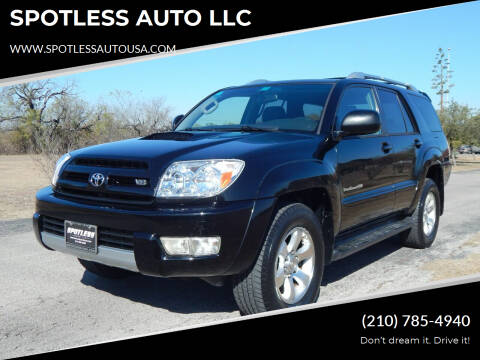 2005 Toyota 4Runner for sale at SPOTLESS AUTO LLC in San Antonio TX