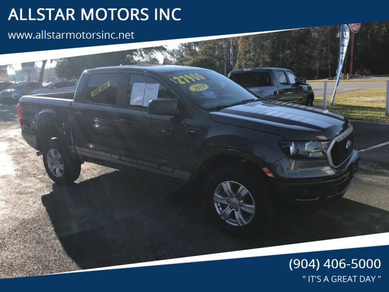 2019 Ford Ranger for sale at ALLSTAR MOTORS INC in Middleburg FL