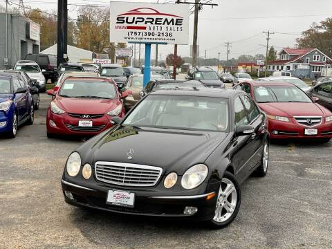 2004 Mercedes-Benz E-Class for sale at Supreme Auto Sales in Chesapeake VA