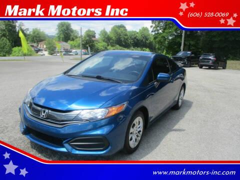 2015 Honda Civic for sale at Mark Motors Inc in Gray KY