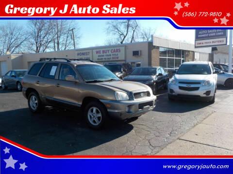 2004 Hyundai Santa Fe for sale at Gregory J Auto Sales in Roseville MI