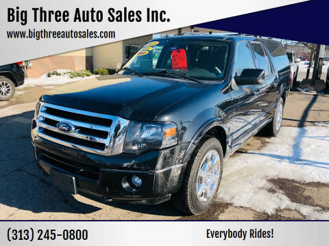 2013 Ford Expedition EL for sale at Big Three Auto Sales Inc. in Detroit MI