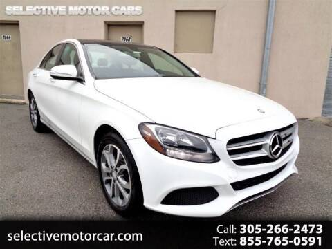 2015 Mercedes-Benz C-Class for sale at Selective Motor Cars in Miami FL