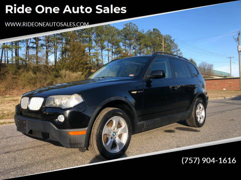 2007 BMW X3 for sale at Ride One Auto Sales in Norfolk VA