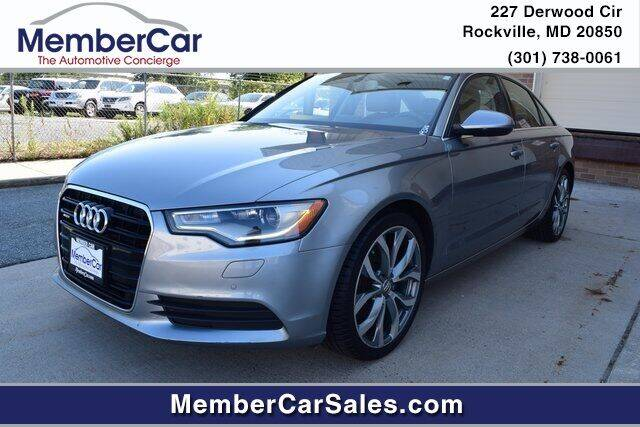 2013 Audi A6 for sale at MemberCar in Rockville MD