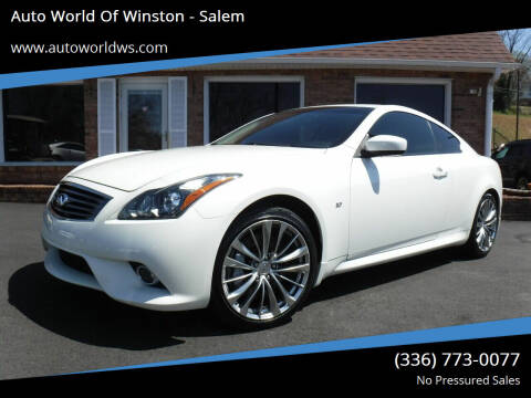 2015 Infiniti Q60 Coupe for sale at Auto World Of Winston - Salem in Winston Salem NC