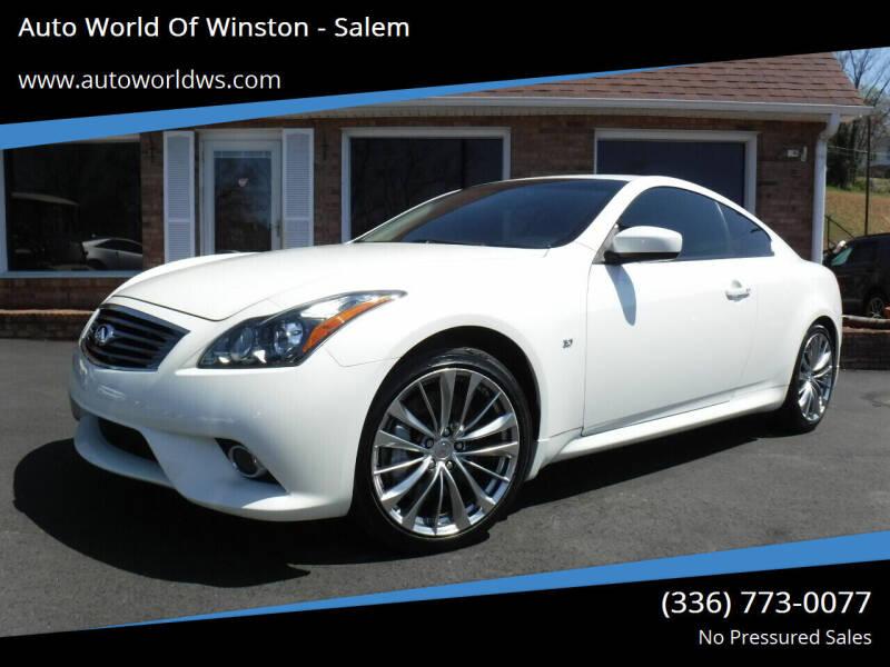 2015 Infiniti Q60 Coupe for sale at Auto World Of Winston - Salem in Winston Salem NC