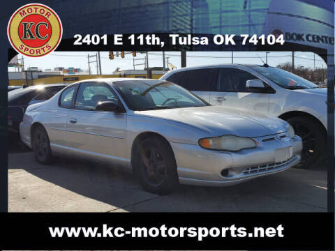 2004 Chevrolet Monte Carlo for sale at KC MOTORSPORTS in Tulsa OK