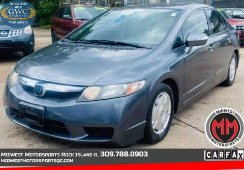 2009 Honda Civic for sale at MIDWEST MOTORSPORTS in Rock Island IL