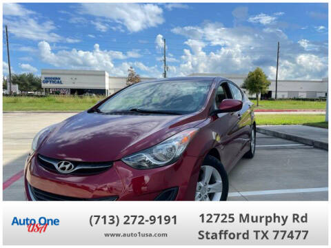 2013 Hyundai Elantra for sale at Auto One USA in Stafford TX