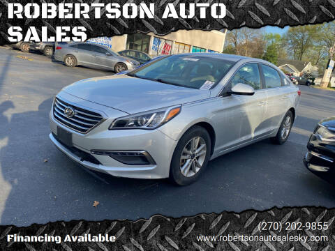 2015 Hyundai Sonata for sale at ROBERTSON AUTO SALES in Bowling Green KY