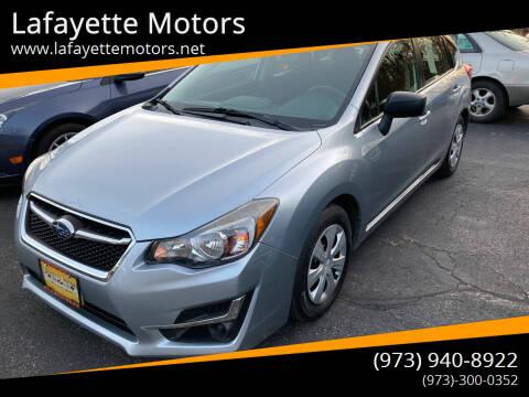 2015 Subaru Impreza for sale at Lafayette Motors in Lafayette NJ