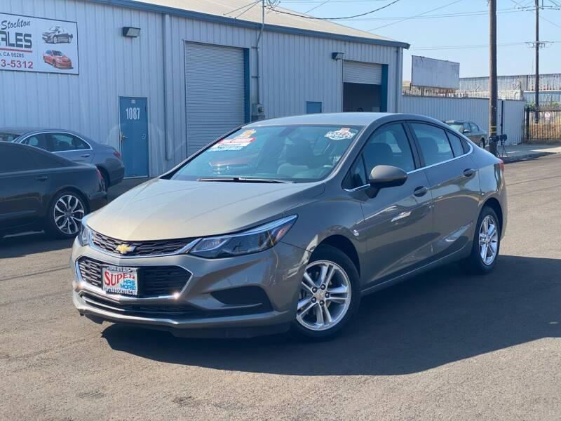 2017 Chevrolet Cruze for sale at SUPER AUTO SALES STOCKTON in Stockton CA