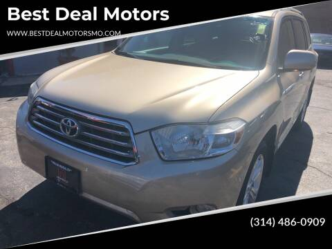 2010 Toyota Highlander for sale at Best Deal Motors in Saint Charles MO