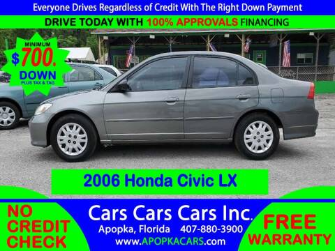 2005 Honda Civic for sale at CARS CARS CARS INC in Apopka FL