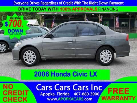 2005 Honda Civic for sale at CARS CARS CARS INC in Apopka FL
