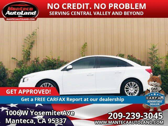 2013 Chevrolet Cruze for sale at Manteca Auto Land in Manteca CA