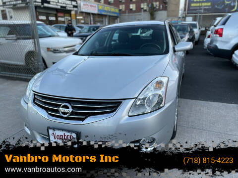 2010 Nissan Altima for sale at Vanbro Motors Inc in Staten Island NY