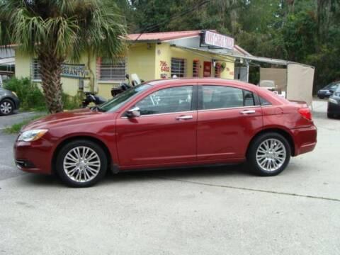 2012 Chrysler 200 for sale at VANS CARS AND TRUCKS in Brooksville FL