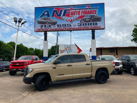 2018 Toyota Tundra for sale at ANF AUTO FINANCE in Houston TX